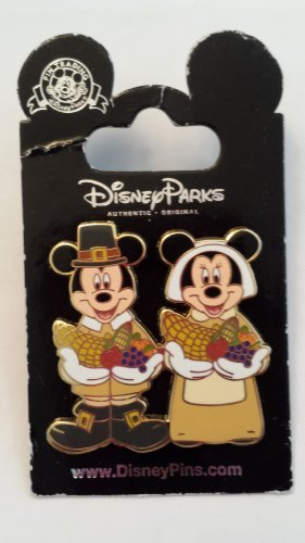 Mickey Mouse Happy Thanksgiving 2005 Magic Kingdom LE Disney Pin Trading Collectible Lapel Pins ()