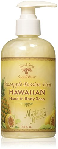 (Island Soap & Candle Works Hawaiian Hand and Body Soap, Pineapple Passion Fruit)