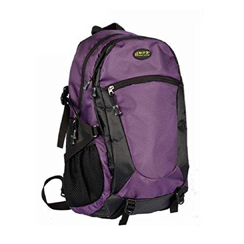 ZC&J 36-55L mochila de gran capacidad, al aire libre ajustable anti-lágrima mochila a prueba de agua, los hombres y las mujeres de moda universal costura mochila,D,32-40L E