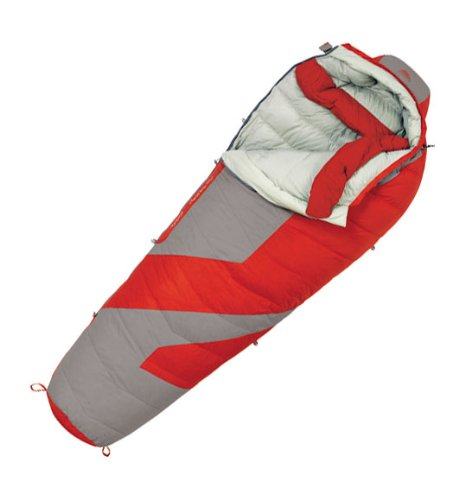 Kelty Light Year 0 Degree Down Sleeping Bag, Long , Molten Lava, Outdoor Stuffs