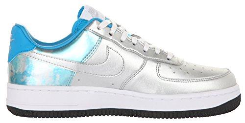 Nike Femmes Sneakers WMNS Air Force 1 07 PRM QS Argent-Bleu clair-Turquoise 704517-001