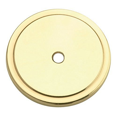 "Amerock BP760-3 Allison 1-3/4"" dia. Backplate for Knob - Polished Brass - 2 Pack"