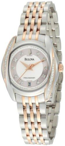 Bulova Women's 98R141 Precisionist Tanglewood Diamond Two-Tone Bracelet Watch