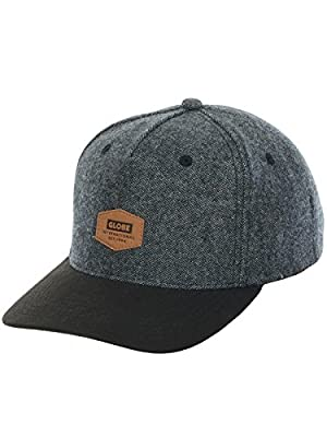 Globe Woodford Snapback in Smoke - Men's Skatewear Adjustable Cap O/S (one size) from Globe