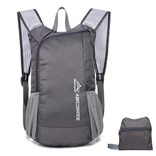 Price comparison product image HighlifeS Travel Bag Outdoor Waterproof Folding Fashion Backpack School SatchelTravel Sport Hiking Laptop Bag (Gray)