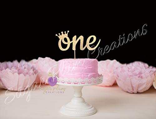Groovy One Cake Topper With Crown Princess First Birthday Amazon Co Uk Personalised Birthday Cards Veneteletsinfo