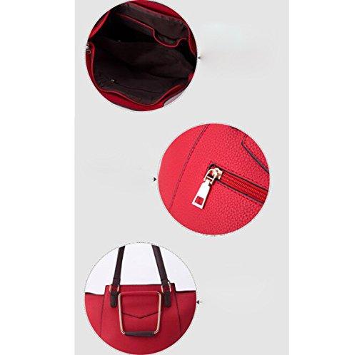 Femme Bandoulière Simple Mode Sac Europe Incliné Red Composite Et Amérique Main À Hqr6gRHn