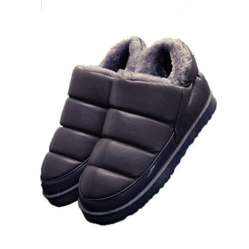 Boots Indoor Snow Outdoor Slipper Waterproof Booties Women Flats Winter Grey Soft qTx1wU8n6