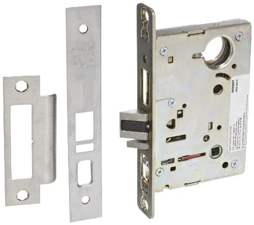 Sargent 8200 Series Satin Chrome Plated Office or Entry Mortise Lock (Pack of 1) - Sargent Mortise Locks