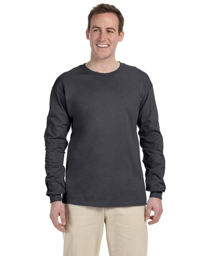 Gildan Adult L/S T-Shirt in Charcoal - XXX-Large by Gildan
