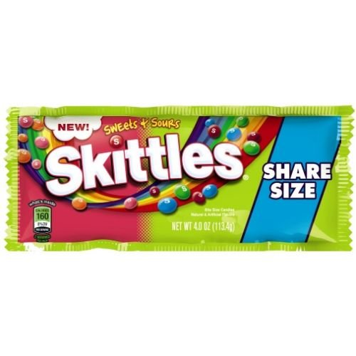 Skittles Sweets and Sours Candy, 4 Ounce - 144 per case.