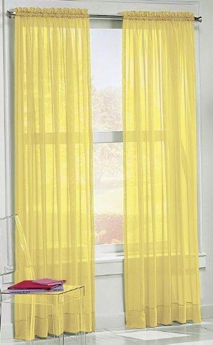 S. Lichtenberg 59 by 63-Inch Calypso Curtain Panel, Lemon by S. Lichtenberg