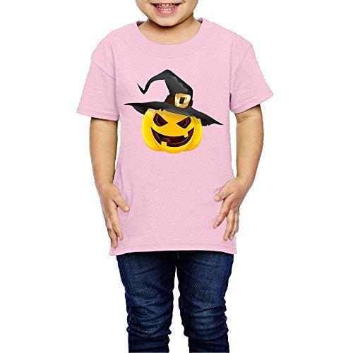 Pumpkin Face Halloween Unisex Youth Short Sleeve Shirt 5-6 (Gymboree Halloween Shirts)