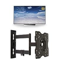 Sony XBR55X850D 55-Inch 4K Ultra HD Smart TV + AmazonBasics Articulating TV Wall Mount