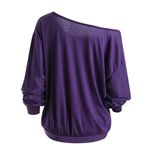 Tops Top Winter Autumn Sleeve Long Shirt Blouse Neck Skew Pumpkin Size T Womens VJGOAL Sweatshirt Plus Angry Demon Purple Halloween Theme qEHfwFZqxc