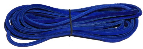 FeetPeople Leather Shoe/Boot Laces, Royal Blue, 72