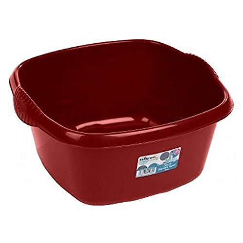Wham High Grade Square Washing Up Bowl Basin Kitchen Mixing (Chilli Red) by Wham