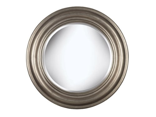 Kenroy Home Nob Hill Wall Mirror with Antique Silver Finish, 32-Inch Diameter
