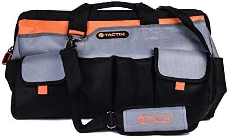 Tactix 323141 Gate Mouth Tool Bag, 20 , Black Orange