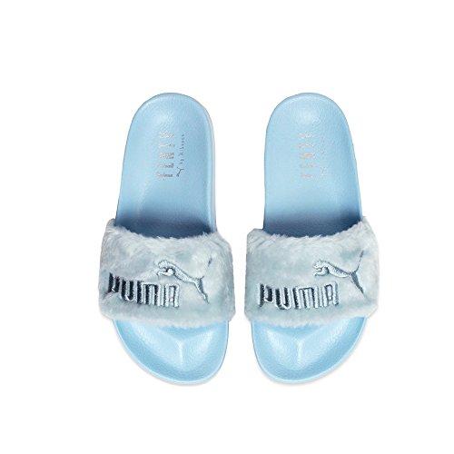 En Cool Puma365772 Puma Silver Femme Fourrure Pantoufle Blue 01 puma qAYtwUp