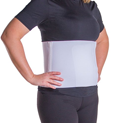 BraceAbility Plus Size Postpartum Abdominal Binder | Belly Band Stomach Wrap for Recovery & Waist Slimming after Pregnancy