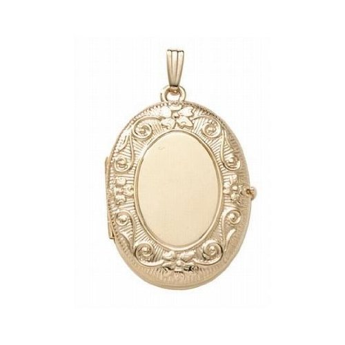 14K Gold Filled ''4-Page Photo'' Oval Locket - 1 Inch X 1-1/4 Inch by PicturesOnGold.com