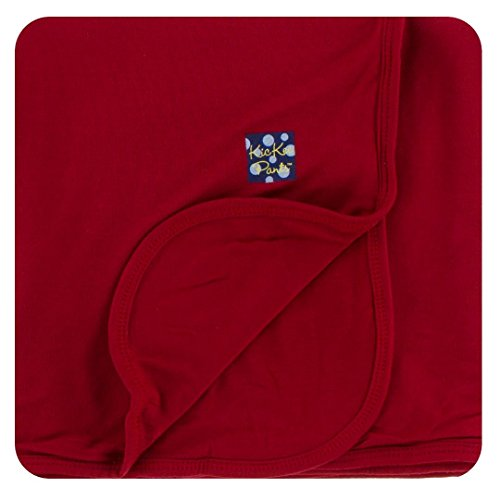 Kickee Pants Little Boys Solid Stroller Blanket, Candy Apple, One Size ()
