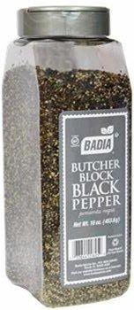 Badia Pepper Black Butcher Block 16 oz