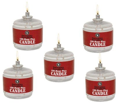 100 Hour Plus Emergency Candle Clear Mist, 5 Candles