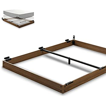 zinus 5 inch wood bed frame for box spring mattress set keep pets from beneath your bed full - Full Bed Frame Wood