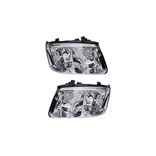 Headlight Set of 2 for 2001 Volkswagen Jetta Wolfsburg Edition Right and Left Side Lens and Housings