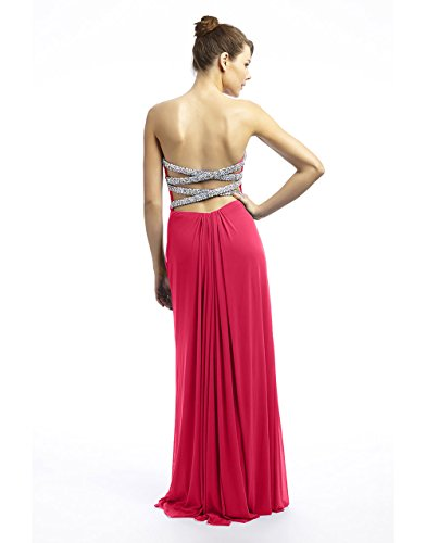 1022427ss16 Coral mit Dynasty Stil Spirit lange Kleid Schal Korallenrot Joni Damen FCwq1Z