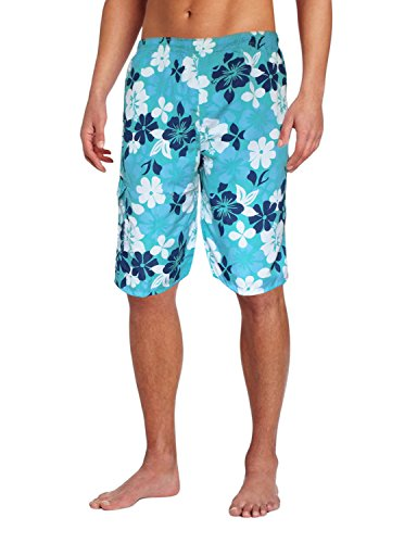 Peach Couture Mens Beach Boardshorts Water Sports Casual Swimming Surfing Shorts XL Teal