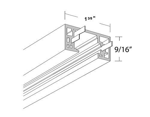 NICOR Lighting 8-Foot Track Rail Section, Nickel (10008NK) by NICOR Lighting (Image #1)