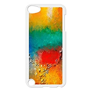 Case for ipod Touch 5,Colorful Spots Protective Custom Hard Snap On Cover Case For ipod Touch 5(White 102126)