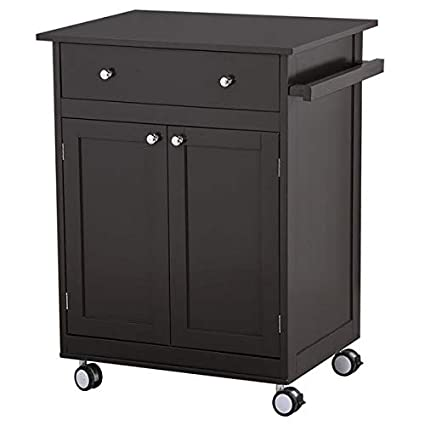 Amazon Com Topeakmart Kitchen Cart On Wheels With Drawers Rolling