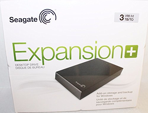 Seagate Expansion Plus 3TB External Desktop Hard Drive (STCP3000100) - Seagate Plug In Adapter