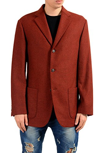 MALO Men's Wool Cashmere Three Button Blazer Sport Coat US 46 IT 56 Cashmere 3 Button