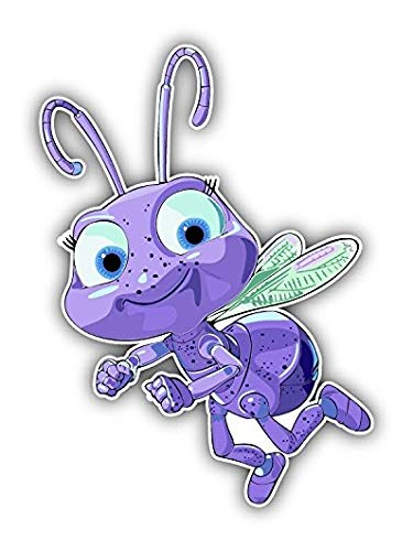 Bugs Life Cartoon Flying - 5 Inch Sticker Graphic - Auto Wall Laptop Cell phone Bumper Window Decal Sticker