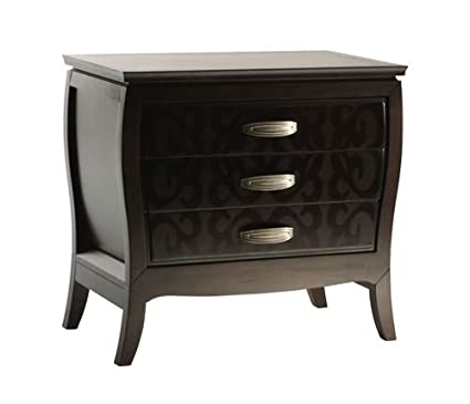 Beautiful Zocalo 3211 Belle Noir Three Drawer Nightstand In Onyx