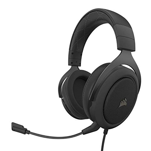 Corsair HS60 Pro - 7.1 Virtual Surround Sound PC Gaming Headset w/USB DAC - Discord Certified Headphones - Compatible with Xbox One, PS4, and Nintendo Switch - Carbon