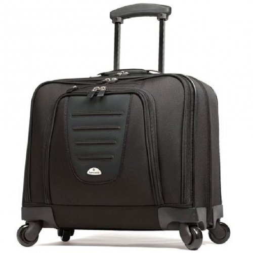 Samsonite Spinner Mobile Office in Wheeled Laptop Briefcase in Black (Wheeled Briefcase Samsonite)