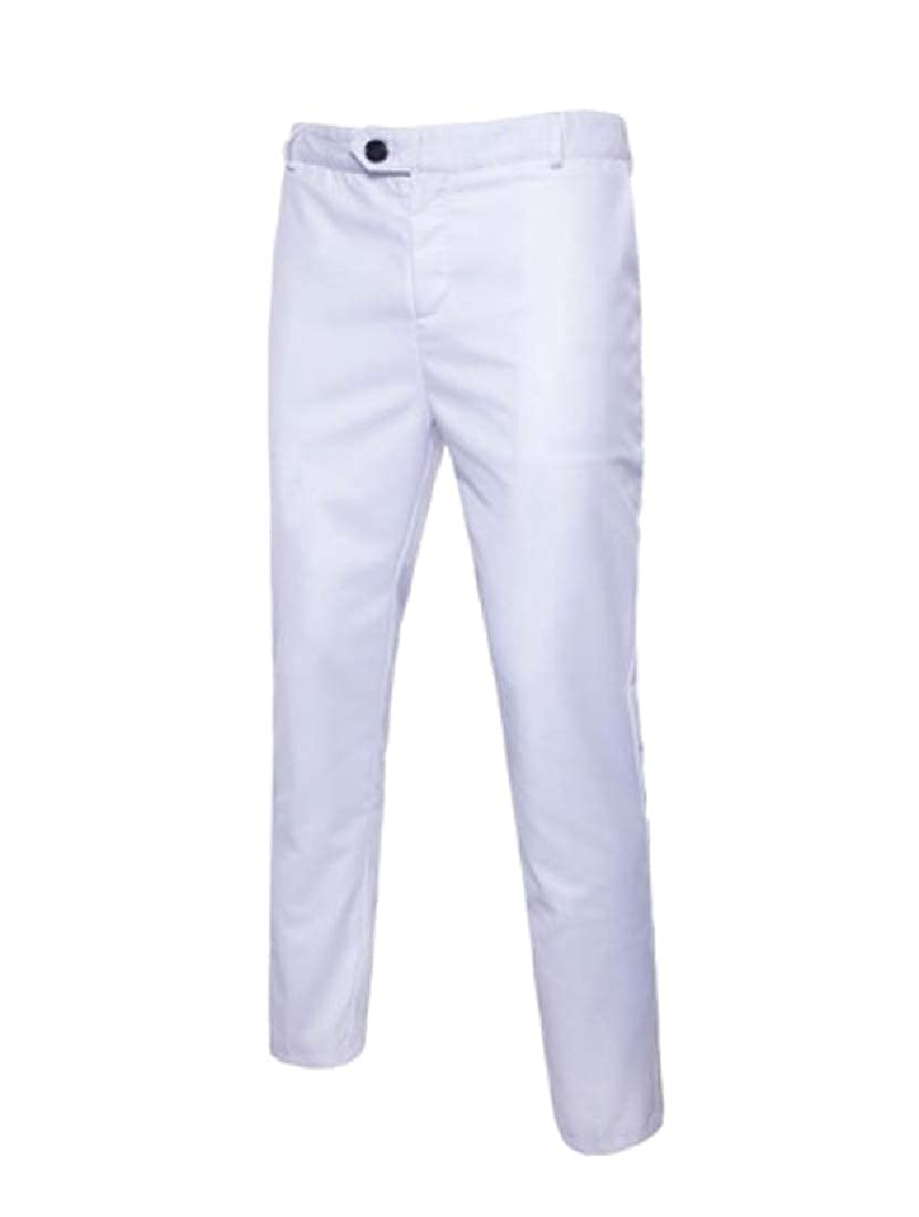 Comaba Men Business Oversized Classic-Fit Long Pants Plain Front Pant