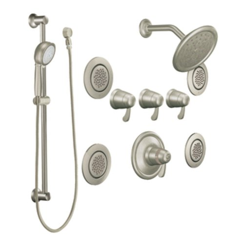 Moen TS276BN Exacttemp Exacttemp Transfer Vertical Spa, Brushed ()
