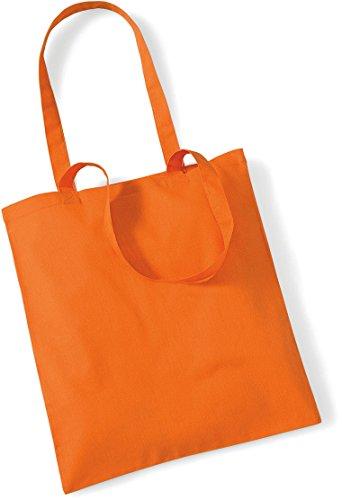 Stoffbeutel Baumwolltasche Beutel Shopper Umhängetasche viele Farbe Orange tFcMrUIBZt