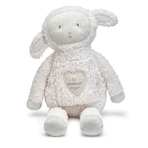 (DEMDACO Goodnight Prayer Lamb Fuzzy White 11 Inch Plush Figure)