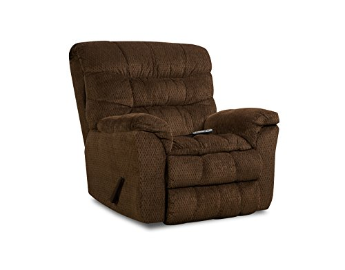 Simmons Upholstery Aegean Heat and Massage Rocker Recliner Chocolate