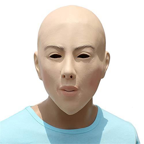 Katoot Female Full Head Mask Crossdresser Transgender Latex Mask Halloween Masquerade Cosplay Woman Party Mask Ball Costume Props