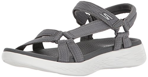 Skechers Performance Women's on-the-Go 600-Brilliancy Sport Sandal, charcoal, 9 M US