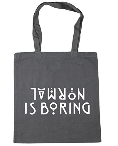 HippoWarehouse Normal is boring Tote Shopping Gym Beach Bag 42cm x38cm, 10 litres Graphite Grey